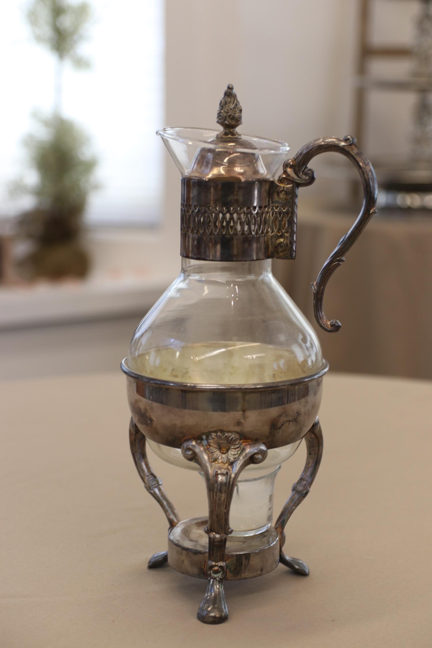 AP: #2 Antique Silver Coffee Carafe - Willow House Social Barn