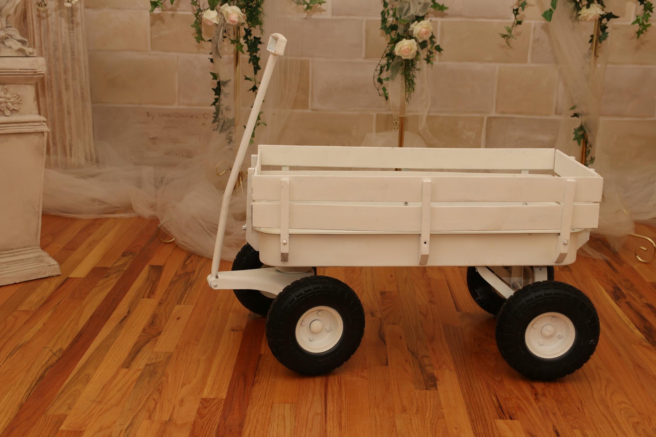 Ca 8 White Wedding Wagon Willow House Social Barn
